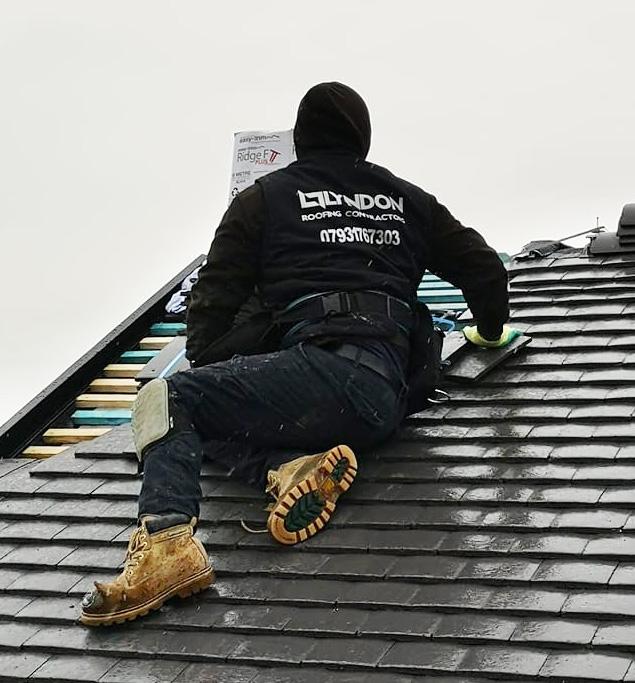 man doing roof repairs stourbridge area